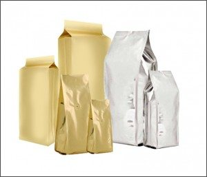 caffe bag gold & silver