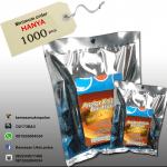 kemasan kantongan full foil three side seal 150x150 - Kemasan Alu Foil + Plong + Sticker