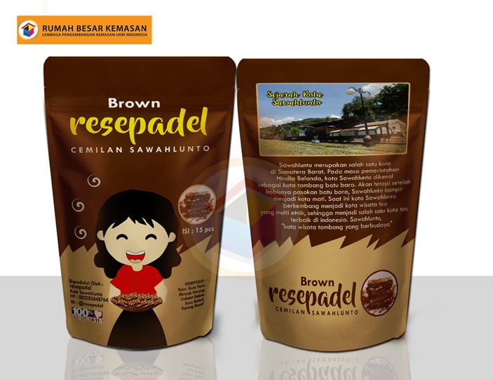 Brown Resepadel Brownies kering - Kemasan Standing Pouch Brown Resepadel
