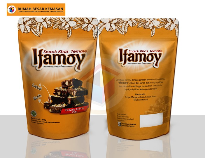 Ifamoy Brownis - Kemasan Standing Pouch Ifamoy